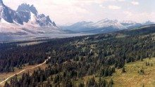 Tonquin Valley Trail Reconstruction - Birds Eye